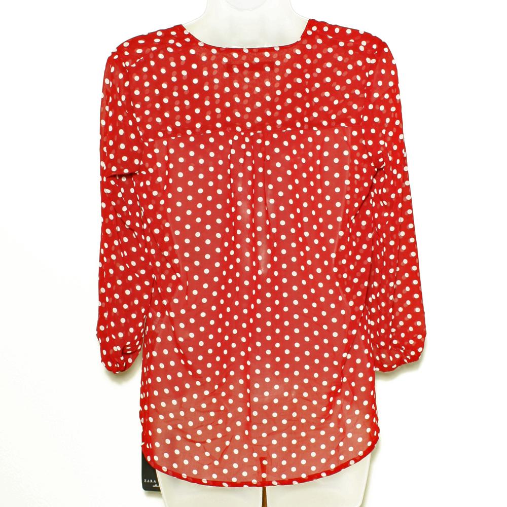 Zara Red Polka Dot Blouse 89