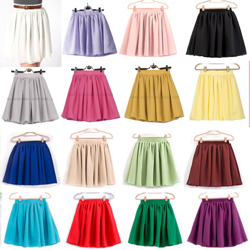 Purple High Waisted Skirt